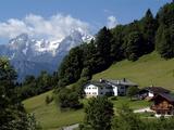 Farm Near Maria Gern and Watzmann, Berchtesgadener Land, Bavaria, Germany, Europe Impressão fotográfica por Hans Peter Merten
