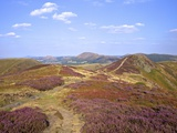 Views over Caradoc, Lawley and the Wrekin from the Long Mynd, Church Stretton Hills, Shropshire, En Reproduction photographique par Peter Barritt