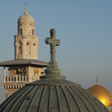 Ecce Homo Dome, Minaret and Dome of the Rock, Jerusalem, Israel, Middle East Photographic Print by Eitan Simanor