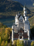 Romantic Neuschwanstein Castle and German Alps During Autumn, Southern Part of Romantic Road, Bavar Photographic Print by Richard Nebesky