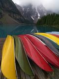 Moraine Lake, Valley of the Ten Peaks, Banff National Park, UNESCO World Heritage Site, Alberta, Ro Impressão fotográfica por Hans Peter Merten