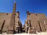 Luxor Temple, Luxor, Thebes, UNESCO World Heritage Site, Egypt, North Africa, Africa Photographic Print by Hans Peter Merten