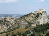 San Leo, Old Town and Castello, Emilia-Romagna, Italy, Europe Impressão fotográfica por Hans Peter Merten