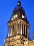 Leeds Town Hall at Dusk, Leeds, West Yorkshire, Yorkshire, England, United Kingdom, Europe Photographic Print by Mark Sunderland