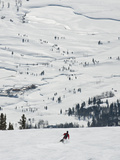 Skier at Jackson Hole Ski, Jackson Hole, Wyoming, United States of America, North America Reproduction photographique par Kimberly Walker