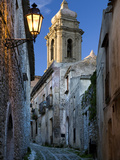 Cobbled Alleyway at Dusk, Erice, Sicily, Italy, Europe Photographic Print by Stuart Black