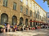 Mercado de frutas y verduras, Aix-En-Provence, Bocas del Ródano, Provenza, Francia, Europa Lámina fotográfica por Peter Richardson