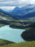 Peyto Lake, Banff National Park, UNESCO World Heritage Site, Alberta, Rocky Mountains, Canada, Nort Impressão fotográfica por Hans Peter Merten