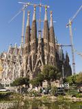 La Sagrada Familia by Antoni Gaudi, UNESCO World Heritage Site, Barcelona, Catalonia, Spain, Europe Photographic Print by Sergio Pitamitz