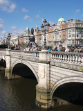River Liffey and O'Connell Bridge, Dublin, Republic of Ireland, Europe Impressão fotográfica por Hans Peter Merten