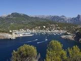 View over Bay and Harbour, Port De Soller, Mallorca (Majorca), Balearic Islands, Spain, Mediterrane 写真プリント : スチュアート・ブラック
