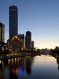 City Centre and Yarra River at Dusk, Melbourne, Victoria, Australia, Pacific Photographic Print by Nick Servian