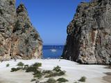 Platja De Torrent De Pareis, Sa Calobra, Mallorca (Majorca), Balearic Islands, Spain, Mediterranean Fotografie-Druck von Stuart Black