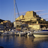 View over the Marina to Citadel and Haute Ville, Bonifacio, South Coast, Corsica, France, Mediterra Photographic Print by Stuart Black