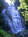 Eventail Waterfall, Cascades Du Herisson, Near Ilay, Jura, Franche Comte, France, Europe 写真プリント : スチュアート・ブラック