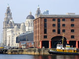 Royal Liver Building and Albert Docks, UNESCO World Heritage Site, Liverpool, Merseyside, England,  Photographic Print by Chris Hepburn