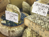 Cheese on Market Stall, Cours Massena, Old Town, Vieil Antibes, Antibes, Cote D'Azur, French Rivier Photographic Print by Wendy Connett
