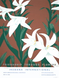 Friendship Through Flowers, Ikebana International Serigrafi (silketryk) af Alex Katz