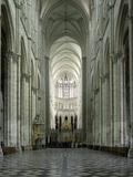 Interior, Notre Dame Cathedral, UNESCO World Heritage Site, Amiens, Picardy, France, Europe Reproduction photographique par Stuart Black