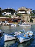 Old Town and Fishing Harbour, Nesebur (Nessebar), Black Sea Coast, Bulgaria, Europe Reproduction photographique par Stuart Black