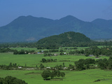 View over Rice Fields from Rich Pass, Near Hue, North Central Coast, Vietnam, Indochina, Southeast  Reproduction photographique par Stuart Black