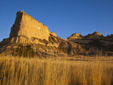 Morning Light Greets Eagle Rock at Scotts Bluff National Monument, Nebraska, Usa Photographic Print by Chuck Haney