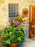Late Summer in the Tuscan Village of Volpaia, Tuscany, Italy Fotoprint van Richard Duval