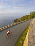 Road Bicycling in Acadia National Park, Maine, Usa Stampa fotografica di Chuck Haney