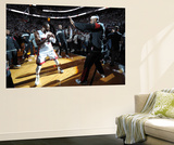 Miami, FL - June 21:  Miami Heat and Oklahoma City Thunder Game Five, Dwyane Wade and LeBron James Wall Mural by Andrew Bernstein