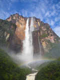 Venezuela, Guayana, Canaima National Park, View of Angel Falls from Mirador Laime Fotografie-Druck von Jane Sweeney