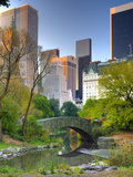 USA, New York, Manhattan, Central Park, the Pond Fotografie-Druck von Alan Copson