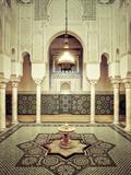Morocco, Meknes, Medina (Old Town), Moulay Ismal Mausoleum Fotografie-Druck von Michele Falzone