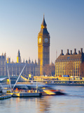 UK, England, London, River Thames and Big Ben Photographic Print by Alan Copson