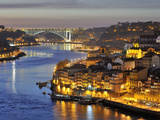 Oporto, Ribeira, UNESCO World Heritage Site at Dusk, Portugal Photographic Print by Mauricio Abreu