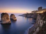 Lebanon, Beirut, the Corniche, Pigeon Rocks Fotografie-Druck von Michele Falzone