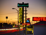 USA, New Mexico, Route 66, Gallup, Motel Signs Photographic Print by Alan Copson