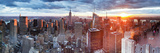 Manhattan View Towards Empire State Building at Sunset from Top of the Rock, at Rockefeller Plaza,  プレミアム写真プリント : ギャビン・ヘラー