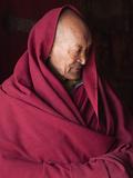 India, Ladakh, Likir, Senior Monk at Likir Monastery, Ladakh, India Photographic Print by Katie Garrod