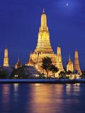 Thailand, Bangkok, Wat Arun Temple at Night Photographic Print by Shaun Egan