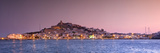 Spain, Balearic Islands, Ibiza, View of Ibiza Old Town (UNESCO Site), and Dalt Vila Photographic Print by Michele Falzone
