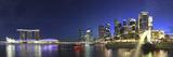 Singapore, Merlion Park and Singapore Skyline Fotografisk trykk av Michele Falzone