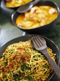 Bali, Ubud, Bowls of Traditional Indonesian Food at a Cookery School in Ubud Fotografie-Druck von Niels Van Gijn