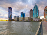 USA, New Jersey, Jersey City on the Hudson River Fotografie-Druck von Alan Copson