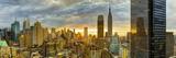 USA, New York, Manhattan, Midtown Skyline Including Empire State Building Fotografisk trykk av Alan Copson