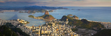 View over Sugarloaf Mountain and City Centre, Rio De Janeiro, Brazil Photographic Print by Peter Adams