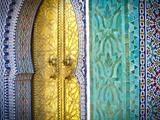 Royal Palace Door, Fes, Morocco Reproduction photographique Premium par Doug Pearson