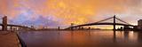 USA, New York City, Manhattan, the Brooklyn and Manhattan Bridges Spanning the East River Photographic Print by Gavin Hellier