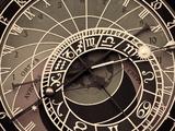 Czech Republic, Prague, Stare Mesto (Old Town), Astronomical Clock on Old Town Hall Reproduction photographique par Michele Falzone