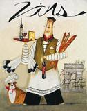 Chef & Wine II Affiches par Jennifer Garant
