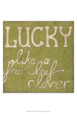 Four Leaf Clover Poster di Chariklia Zarris